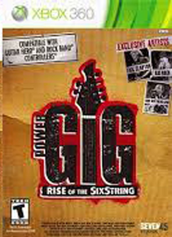 Power Gig: Rise Of The SixString Video Game Back Title by WonderClub