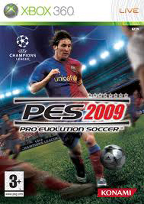 Pro Evolution Soccer 2009 Video Game Back Title by WonderClub