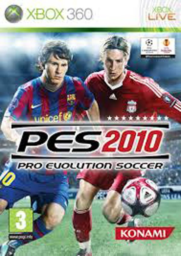 Pro Evolution Soccer 2010 Video Game Back Title by WonderClub