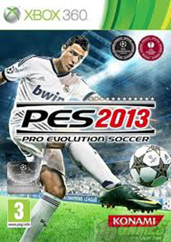 Pro Evolution Soccer 2013 Video Game Back Title by WonderClub