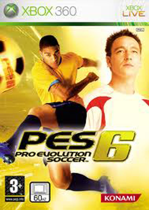 Pro Evolution Soccer 6 Video Game Back Title by WonderClub