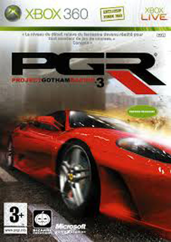 Project Gotham Racing 3 Video Game Back Title by WonderClub