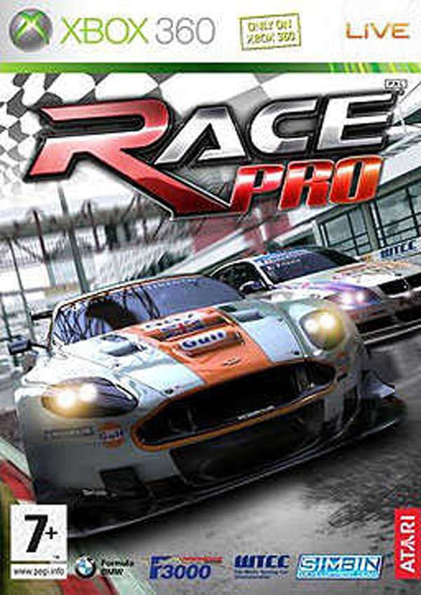 Race Pro Video Game Back Title by WonderClub