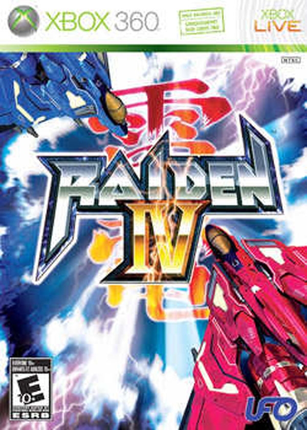 Raiden IV Video Game Back Title by WonderClub