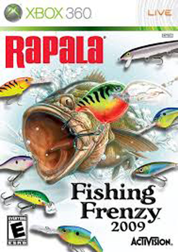 Rapala Fishing Frenzy 2009 Video Game Back Title by WonderClub
