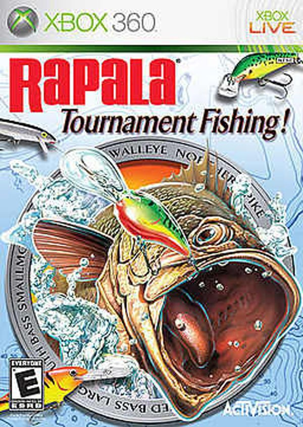 Rapala Tournament Fishing Video Game Back Title by WonderClub