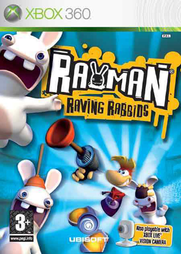 Rayman Raving Rabbids Video Game Back Title by WonderClub