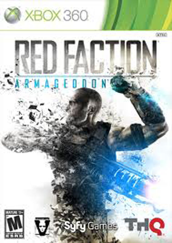 Red Faction: Armageddon Video Game Back Title by WonderClub
