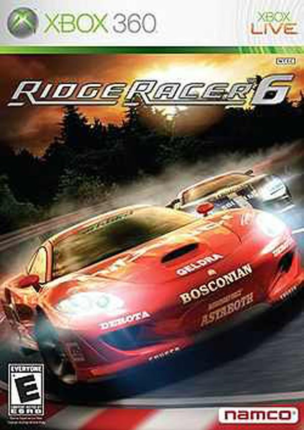 Ridge Racer 6 Video Game Back Title by WonderClub