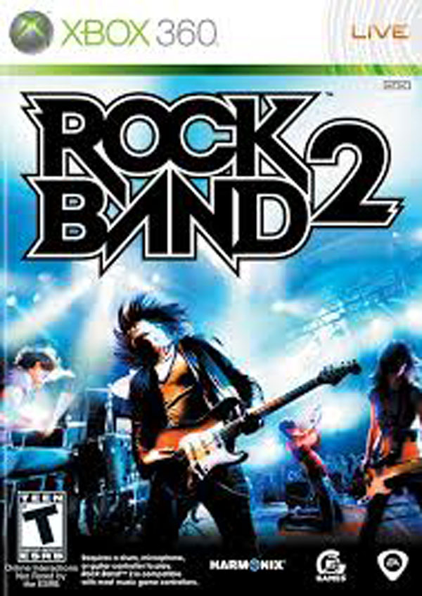 Rock Band 2 Video Game Back Title by WonderClub