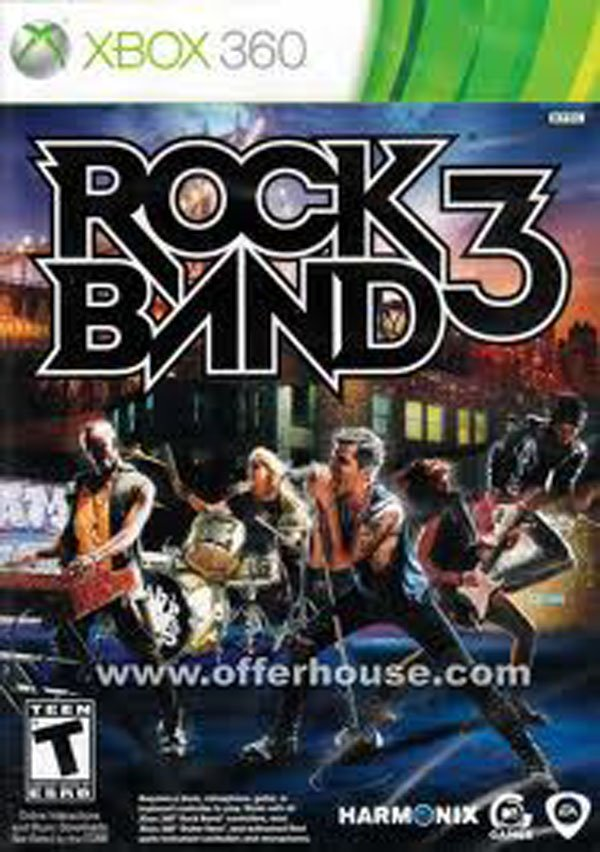 Rock Band 3 Video Game Back Title by WonderClub