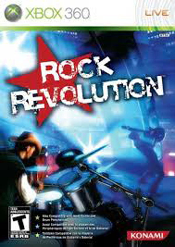 Rock Revolution Video Game Back Title by WonderClub