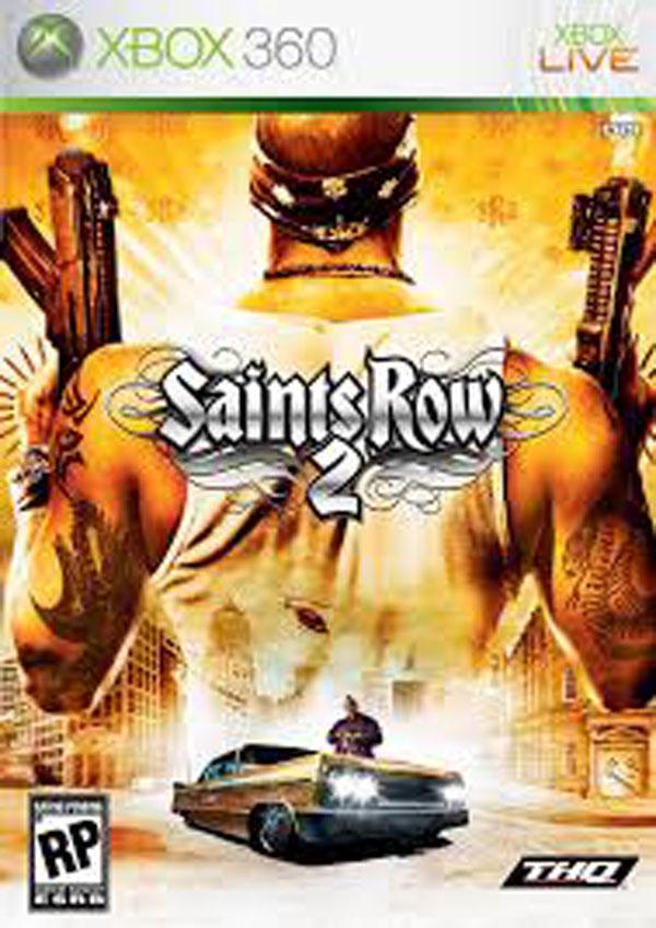 Saints Row 2 Video Game Back Title by WonderClub