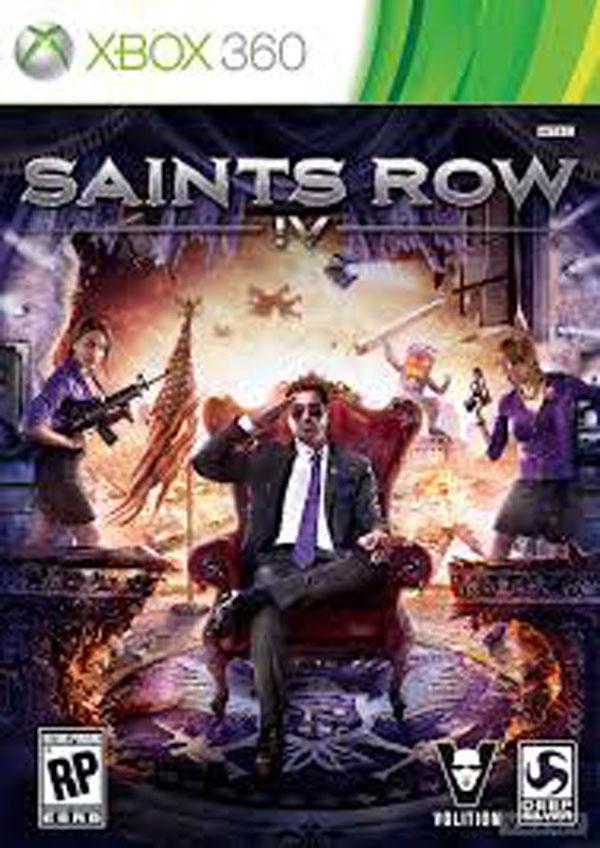 Saints Row IV Video Game Back Title by WonderClub