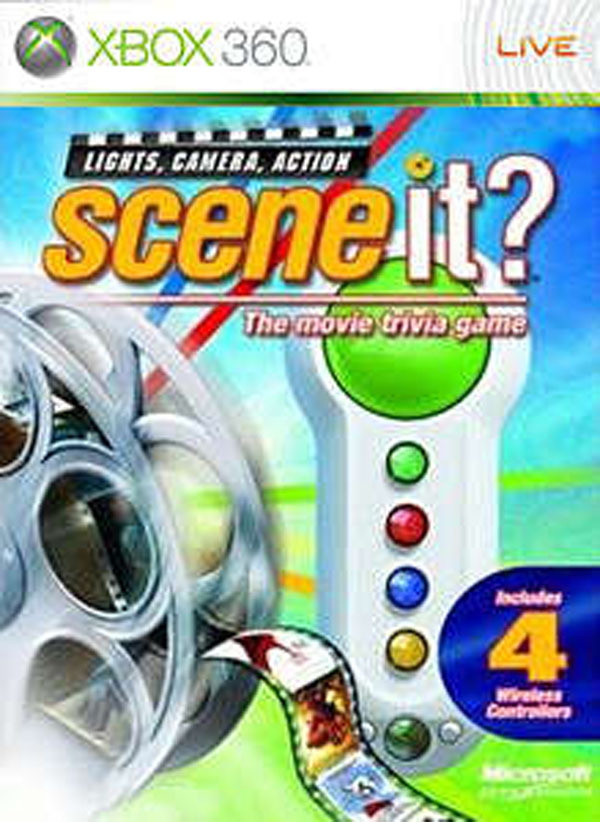 Scene It? Lights, Camera, Action Video Game Back Title by WonderClub