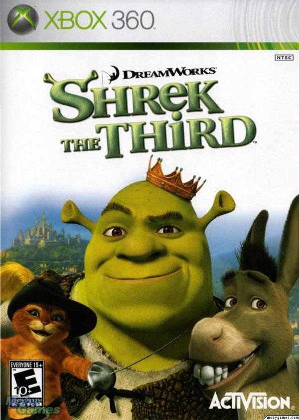Shrek The Third  Video Game Back Title by WonderClub