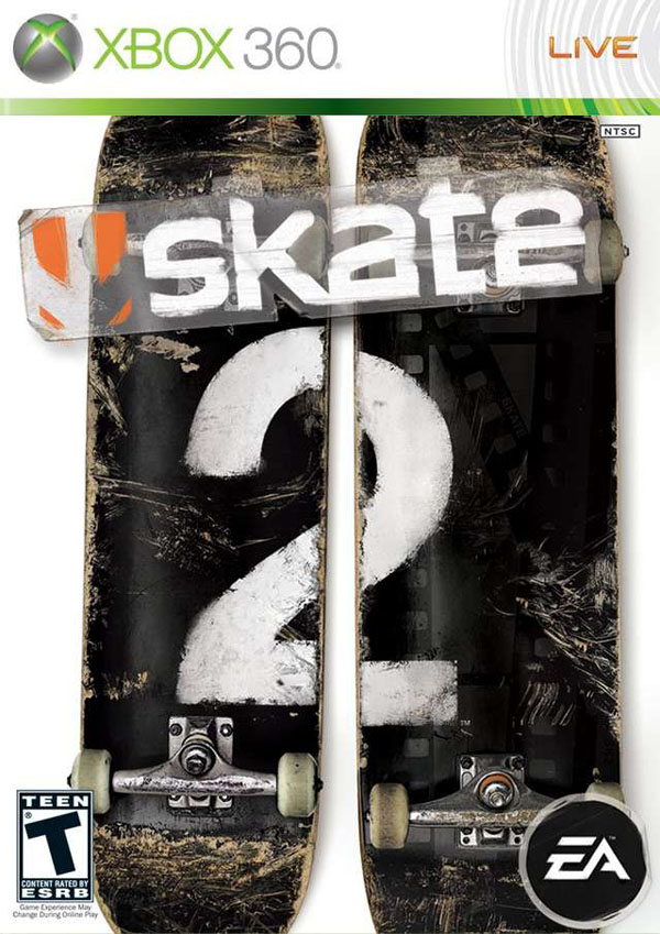 Skate 2 Video Game Back Title by WonderClub