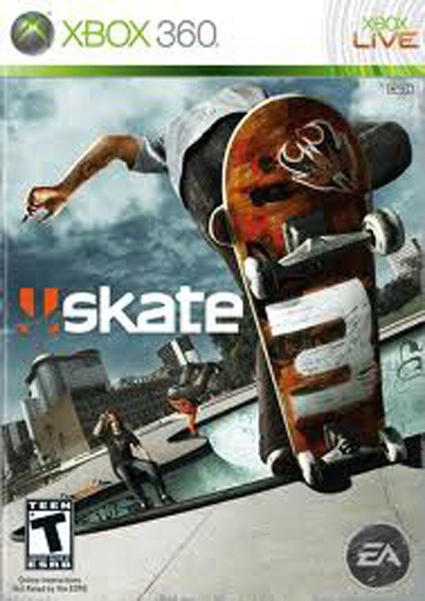 Skate 3 Video Game Back Title by WonderClub
