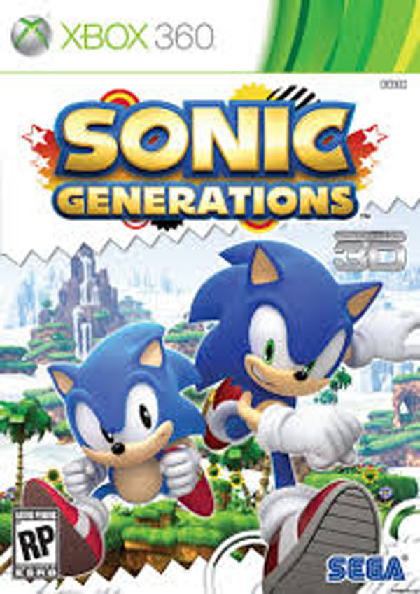Sonic Generations Video Game Back Title by WonderClub