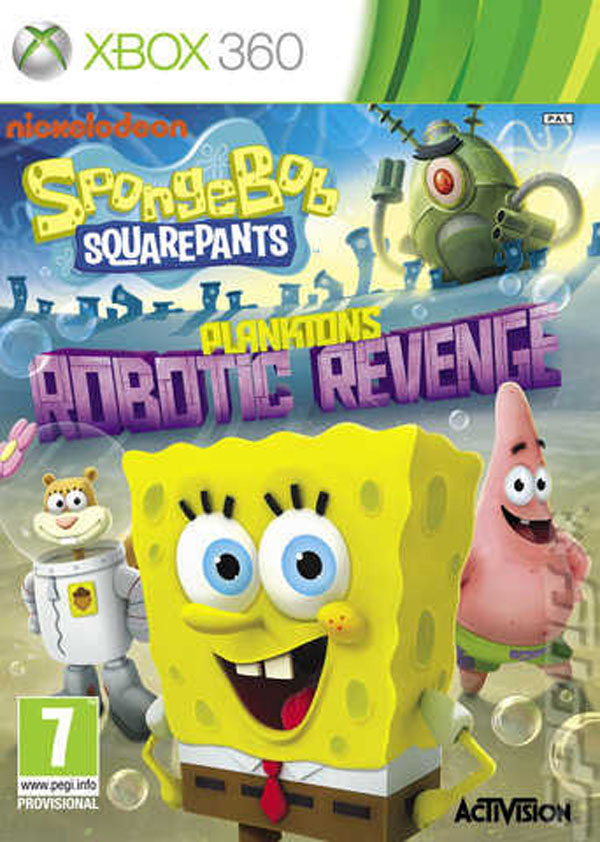 SpongeBob SquarePants: Plankton's Robotic Revenge Video Game Back Title by WonderClub