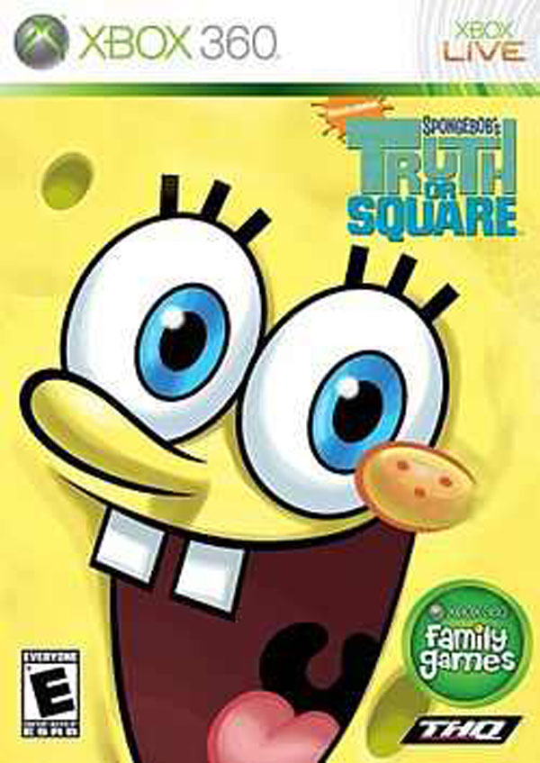 SpongeBob's Truth Or Square  Video Game Back Title by WonderClub