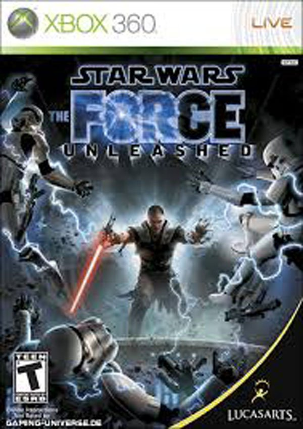 Star Wars: The Force Unleashed Video Game Back Title by WonderClub