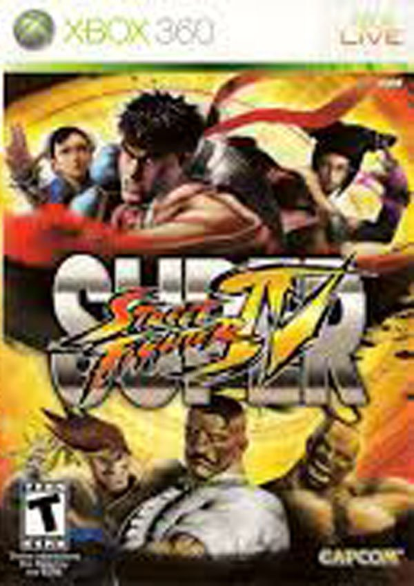 Super Street Fighter IV Video Game Back Title by WonderClub