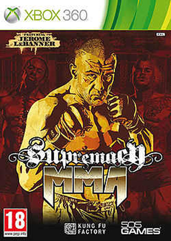 Supremacy MMA Video Game Back Title by WonderClub