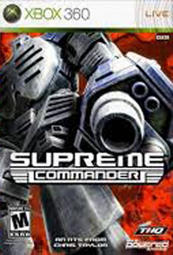 Supreme Commander Video Game Back Title by WonderClub