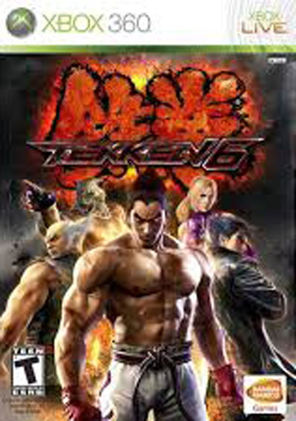 Tekken 6 Video Game Back Title by WonderClub