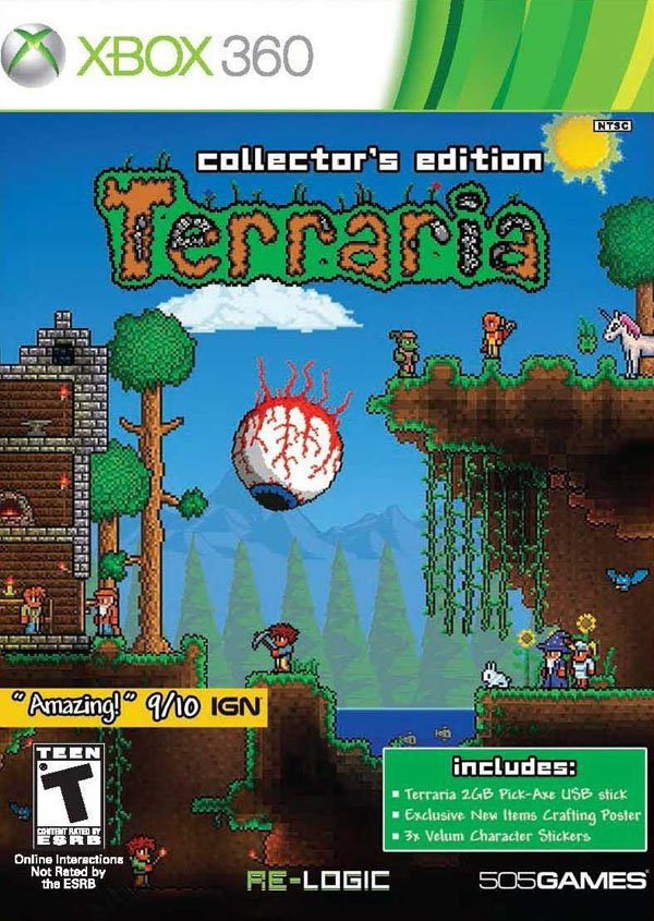 Terraria Video Game Back Title by WonderClub