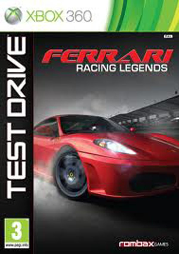 Test Drive: Ferrari Racing Legends Video Game Back Title by WonderClub
