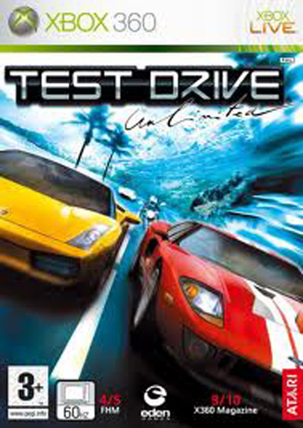 Test Drive Unlimited Video Game Back Title by WonderClub