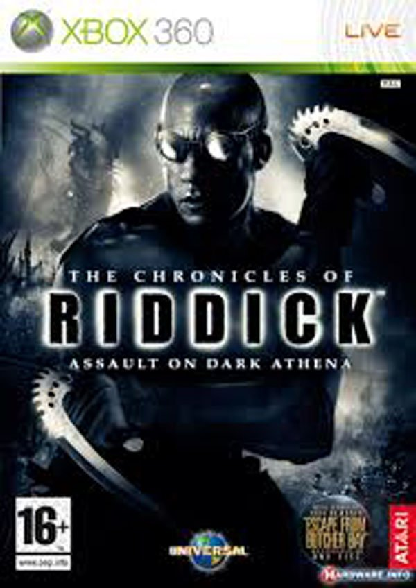 The Chronicles Of Riddick: Assault On Dark Athena Video Game Back Title by WonderClub