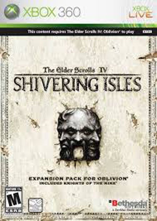 The Elder Scrolls IV: Shivering Isles Video Game Back Title by WonderClub