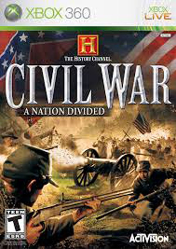 The History Channel: Civil War – A Nation Divided Video Game Back Title by WonderClub