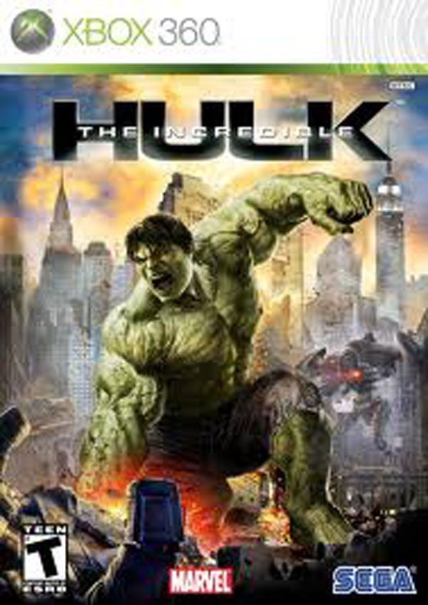 The Incredible Hulk Video Game Back Title by WonderClub