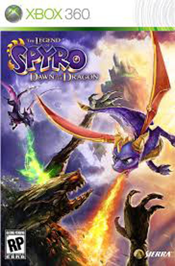 The Legend Of Spyro: Dawn Of The Dragon Video Game Back Title by WonderClub