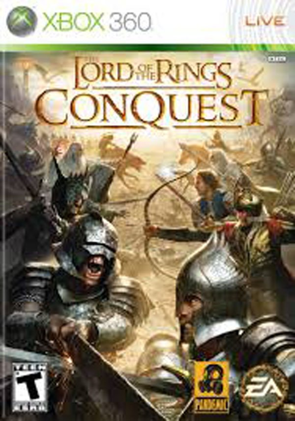 The Lord Of The Rings: Conquest Video Game Back Title by WonderClub
