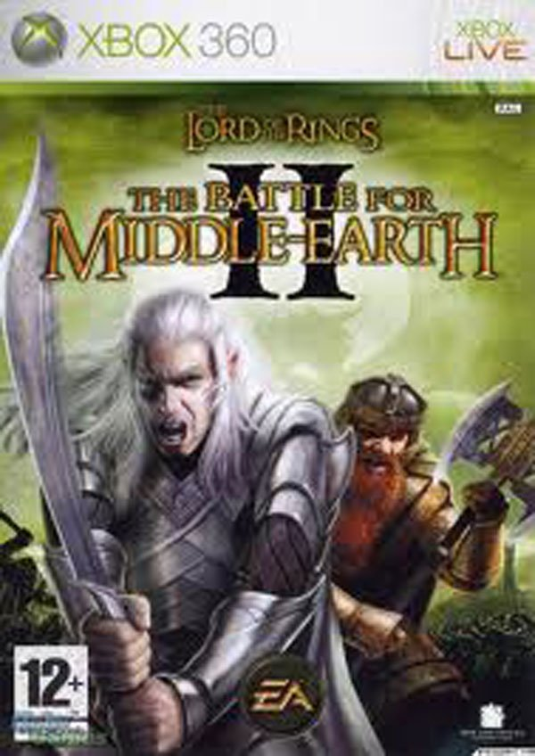 The Lord Of The Rings: The Battle For Middle-earth II Video Game Back Title by WonderClub