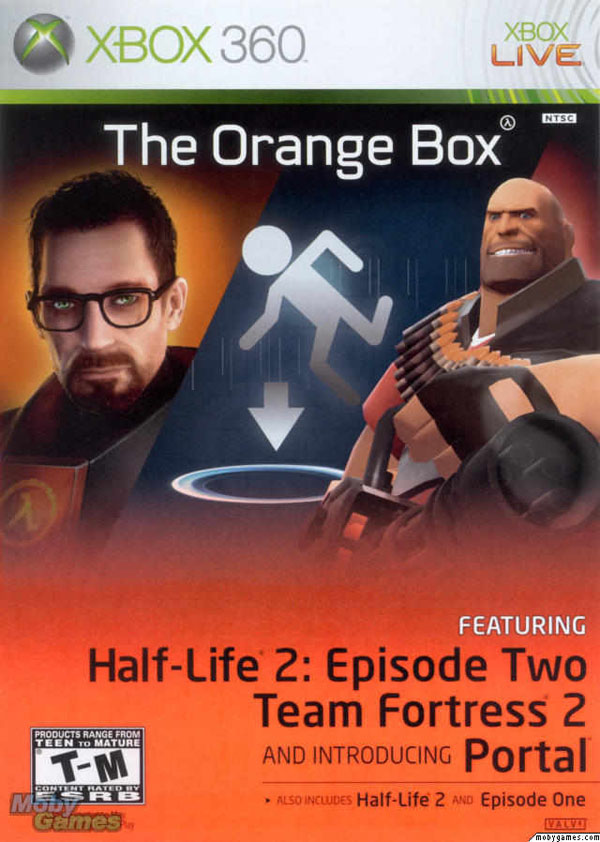 The Orange Box Video Game Back Title by WonderClub