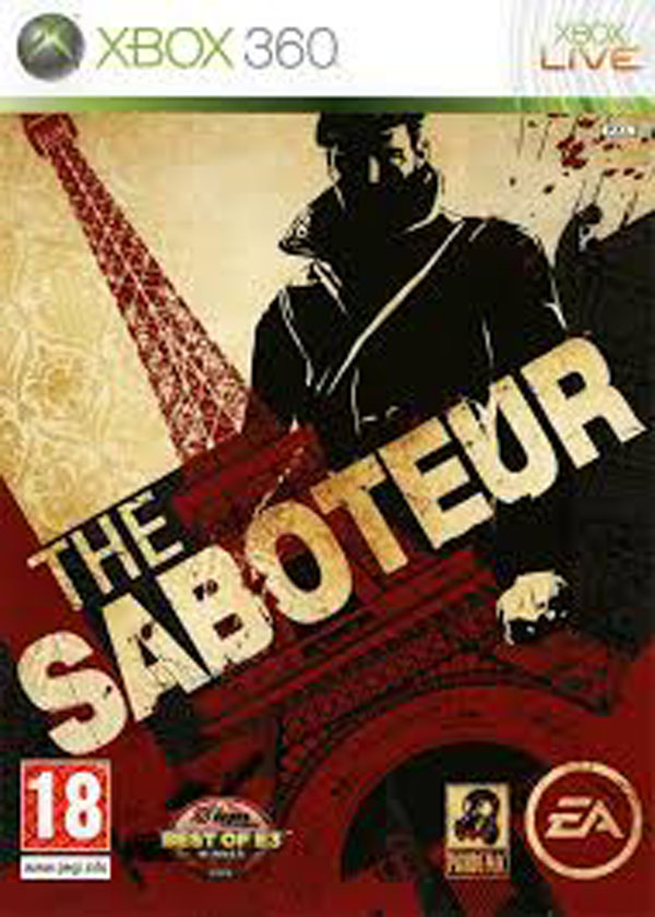 The Saboteur Video Game Back Title by WonderClub
