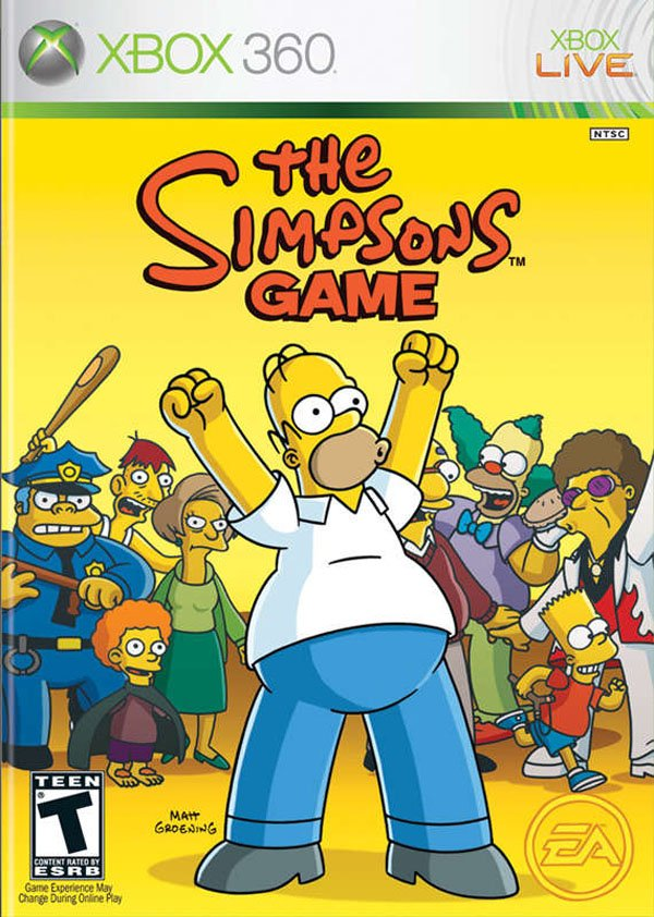The Simpsons Game Video Game Back Title by WonderClub