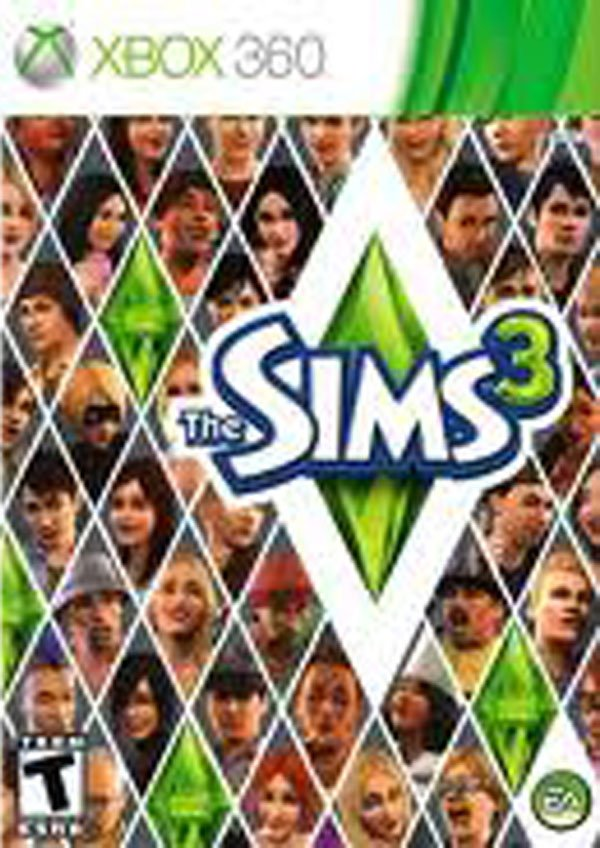 The Sims 3 Video Game Back Title by WonderClub