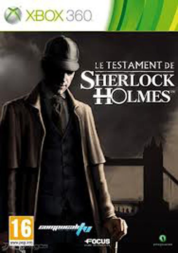 The Testament Of Sherlock Holmes Video Game Back Title by WonderClub