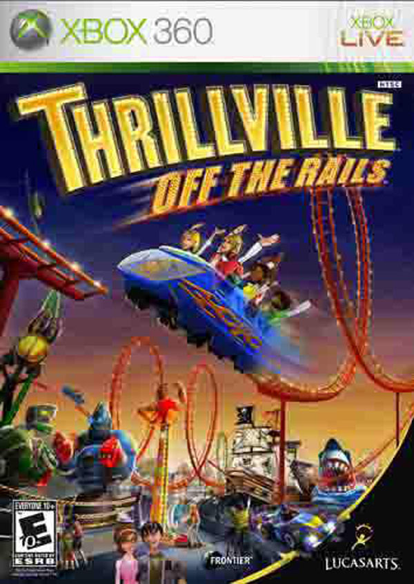 Thrillville: Off The Rails Video Game Back Title by WonderClub