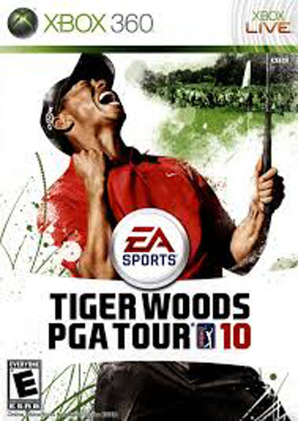 Tiger Woods PGA Tour 10 Video Game Back Title by WonderClub