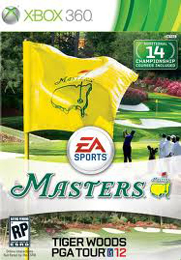 Tiger Woods PGA Tour 12 Video Game Back Title by WonderClub