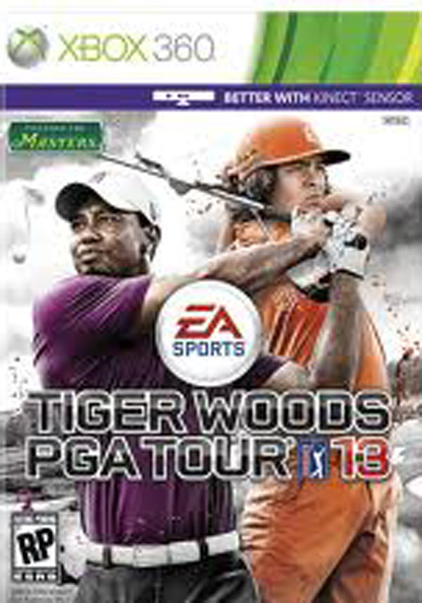 Tiger Woods PGA Tour 13 Video Game Back Title by WonderClub
