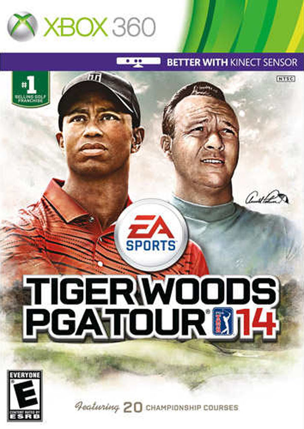 Tiger Woods PGA Tour 14 Video Game Back Title by WonderClub